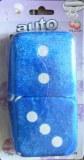 Fuzzy Dice bleu désodorisant