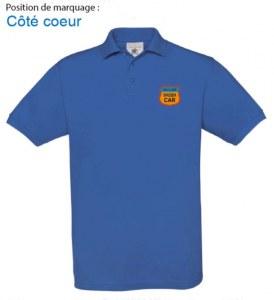 Polo Club logo brodé cœur